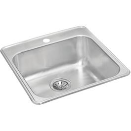 "20 1/2"" x 20 7/8"" x 8"" Stainless Steel Single Drop In Kitchen Sink thumb"