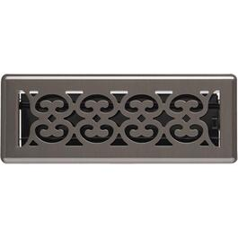 "3"" x 10"" Pewter Scroll Floor Diffuser thumb"
