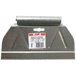 "9"" x 1/32"" V Notch Metal Adhesive Spreader thumb"