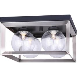 Leo 4 Light Matte Black/Brushed Nickel Flushmount Light Fixture thumb