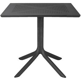 "32"" Square Black Resin Dining Table thumb"