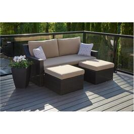 3 Piece Norway Multifunction Wicker Sofa Set thumb