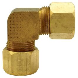 "3/8"" Brass 90 Degree Compression Elbow thumb"
