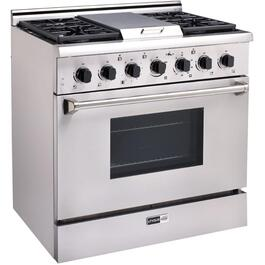 "36"" Stainless Steel Off-Grid Propane Range thumb"