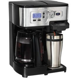12 Cup Black/Stainless Steel 2-Way Coffee Maker thumb