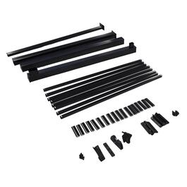 4' Black Aluminum Wide Gate Picket Railing Package thumb