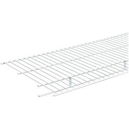 "16"" x 6' White Wire Shelf, with Rod thumb"