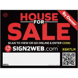 "18"" x 24"" Web Enabled House For Sale Sign thumb"