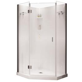 "36"" Papaya Chrome Angle Polystyrene Shower Cabinet thumb"