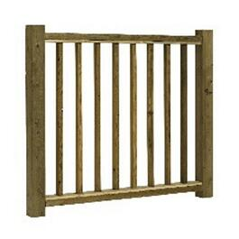"36""H x 4'W Pressure Treated Baluster 'B' Railing Package thumb"
