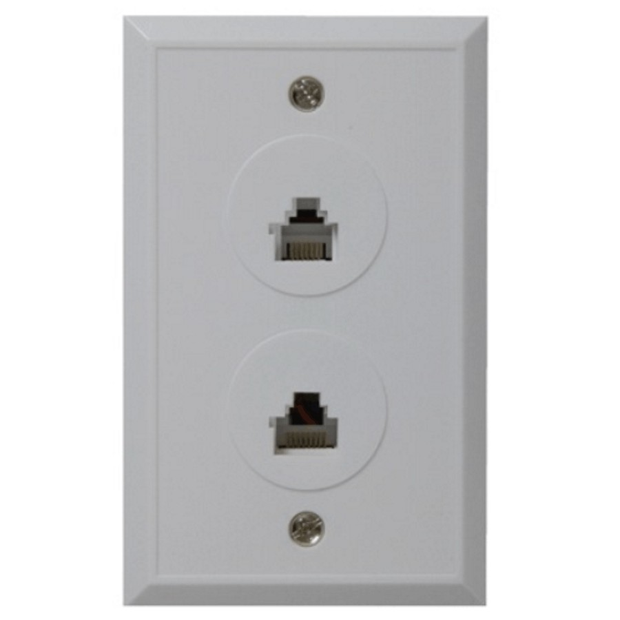 Wire Wall Plate | Rca White Phone And Cable Wall Plate Home Hardware Canada