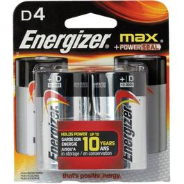 4 Pack Max Alkaline D Batteries thumb