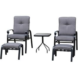 5 Piece Grandon Park Steel Chat Set, with Cushions thumb