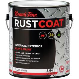 3.64L White Gloss Alkyd Rust Paint thumb