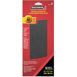 "5 Pack 4-1/4"" x 11-1/4"" 80G Drywall Paper thumb"