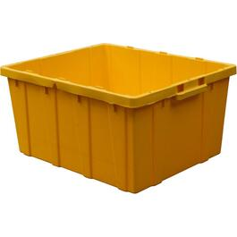75L Heavy Duty Yellow Storage Box, Less Lid thumb