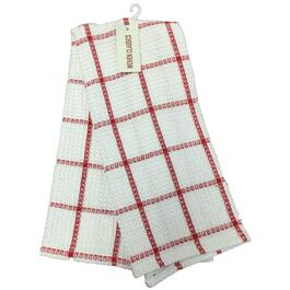 "18"" x 28"" Red and White Waffle Tea Towel thumb"