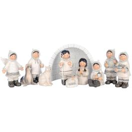 "10 Piece 5.5"" Inuit Nativity Set, with Igloo thumb"