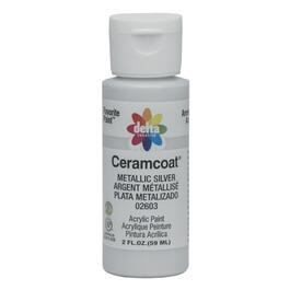 2oz Silver Acrylic Ceramcoat Craft Paint thumb