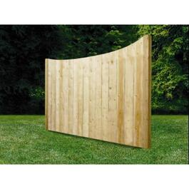 5' Spruce Sanded One Side Banff Privacy Fence Package thumb