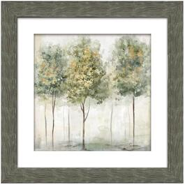 "22"" x 22"" Smokey Trees 11 Framed Wall Plaque thumb"