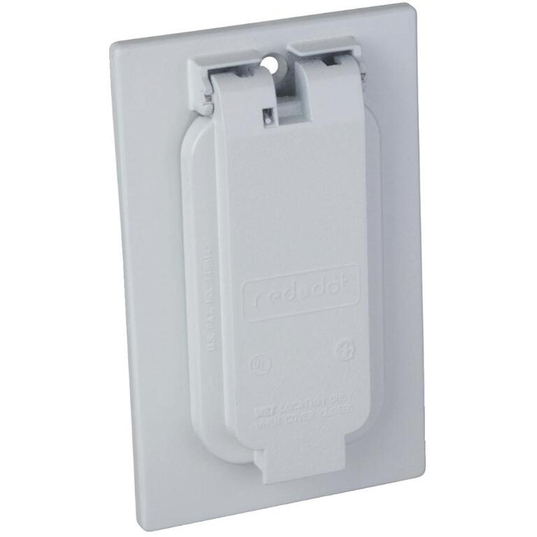 1 Gang Weatherproof Gfci White Receptacle Cover Home Hardware