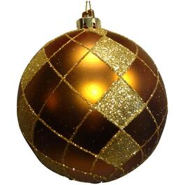 100mm Plastic Gold Round Ornament thumb