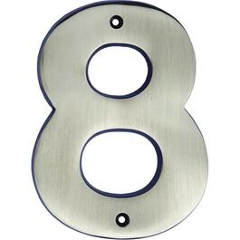 "5"" Antique Nickel '8' House Number thumb"