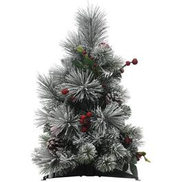 "18"" Flocked Fairfield Table Top Tree thumb"