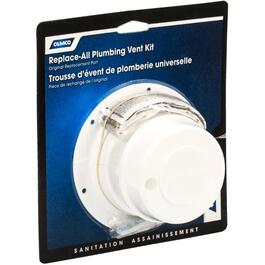 White RV Replacement Plumbing Vent Kit thumb