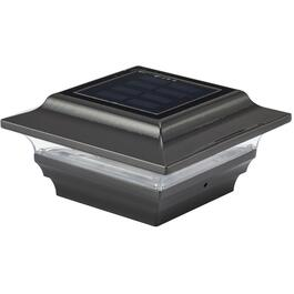 "4"" x 4"" Solar Imperial Black Post Cap thumb"
