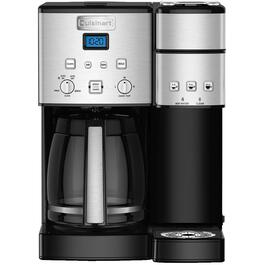 12 Cup Black/Stainless Steel Permanent Filter Single Serve Coffee Maker, with Carafe Combo thumb