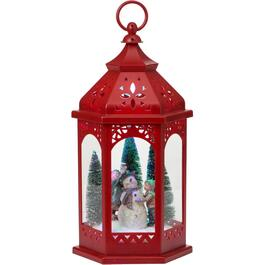 "16"" Battery Operated Plastic Decor Tabletop Lantern with Dot Lights, Assorted Scenes thumb"