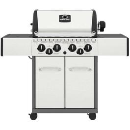 4 Burner + 1 Inset Side Burner + 1 Rear Rotisserie Burner 644 sq. in. 40,000BTU Stainless Steel Liquid Propane Barbecue, with Cabinet thumb