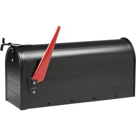 Black Galvanized Rural Mailbox thumb