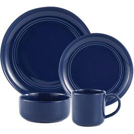16 Piece Navy Ridge Round Stoneware Dinnerware Set thumb