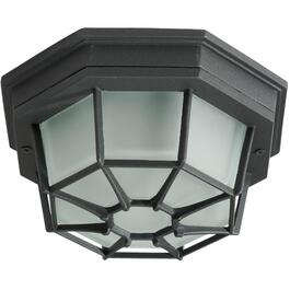 "8.5"" Black Outdoor Flushmount Ceiling Fixture thumb"