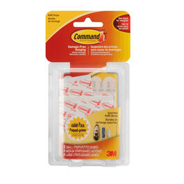 8 Small/4 Medium/4 Large Command White Replacement Adhesive Strips thumb