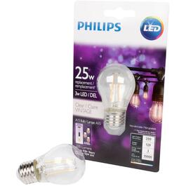3W A15 Medium Base Clear Vintage LED Light Bulb thumb