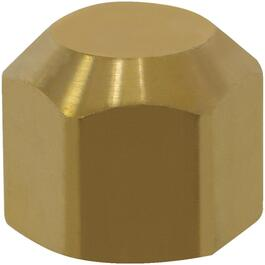 "3/8"" External Flare End Sealing Brass Cap Nut thumb"