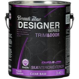 3.40L Trim & Door Clear Base Silk Finish Latex Paint thumb