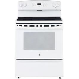 "30"" White Manual Clean Smooth Top Electric Range thumb"