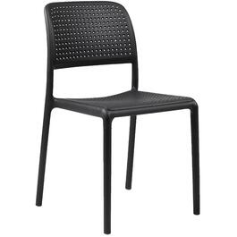 Black Armless Resin Commercial Bistro Chair thumb