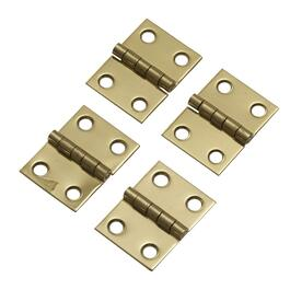 "4 Pack 3/4"" x 1"" Brass Finish Broad Hinges thumb"