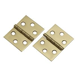 "2 Pack 1-1/2"" x 2"" Brass Desk Hinges thumb"