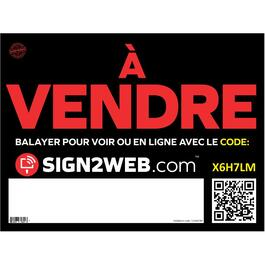 "18"" x 24"" Web Enabled À Vendre Sign thumb"