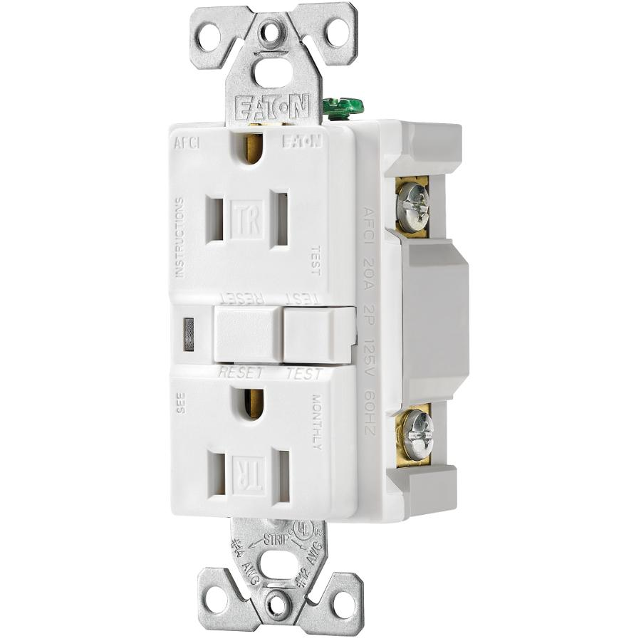 Eaton 15amp White Tamper Resistant Afci Receptacle Home Hardware Fact Sheet The Is An Arc Fault Circuit Interrupter Canada