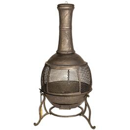"24"" Cast Iron Wood Burning Chiminea Outdoor Fireplace thumb"