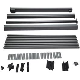 4' Titanium Slate Aluminum Straight Gate Picket Railing Package thumb
