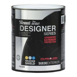911mL Suede Finish White Exterior Latex Paint thumb